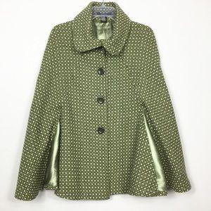 Cejone Wool Blend Cape Coat